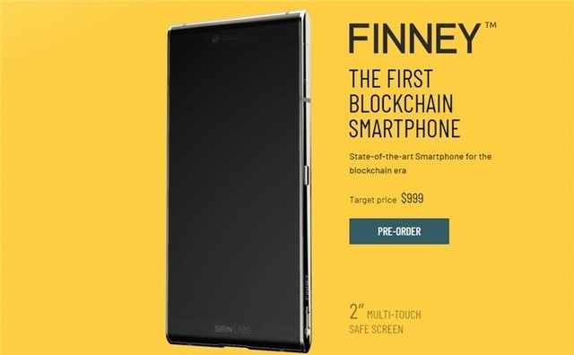 Finney区块链手机正式发售