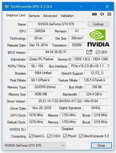 GPU-Z增加了对NVIDIA GeForce RTX 2060显卡的支持