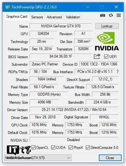 TechPowerUp发布了最新版本的GPU-Z的v2.16.0版本