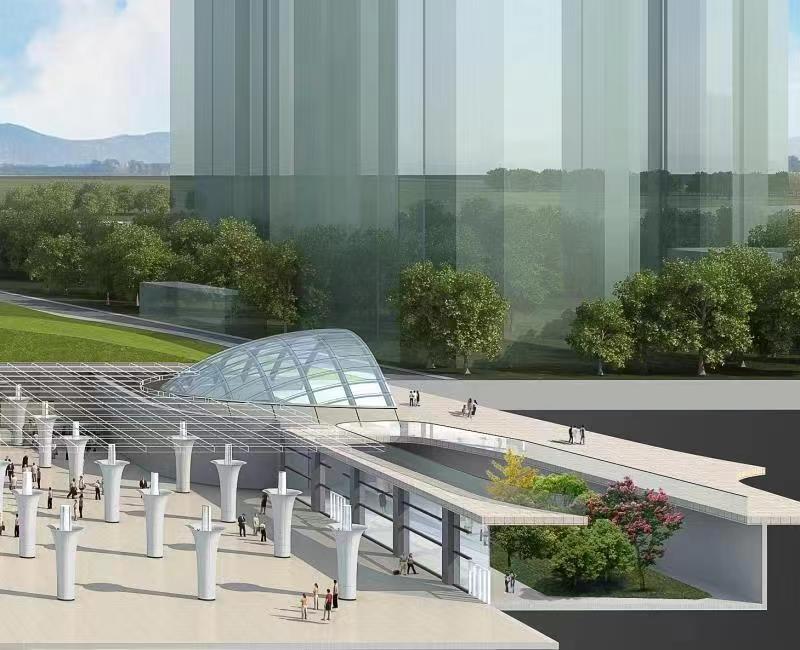 北京轨道交通新机场线工程的最后一座车站——草桥站主体结构顺利封顶