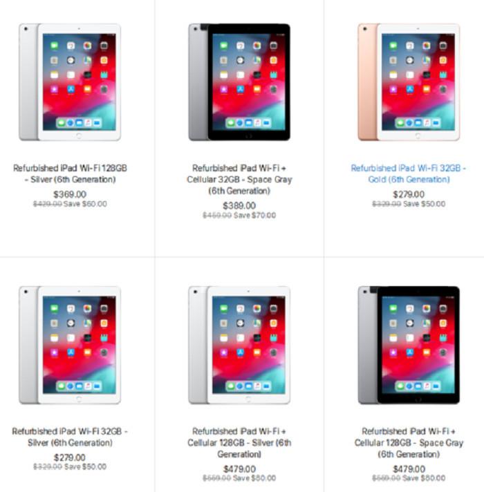 苹果第六代翻新版iPad已经上线处于2199元至3699元区间内