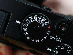 富士 X-Pro 1 感光度转盘